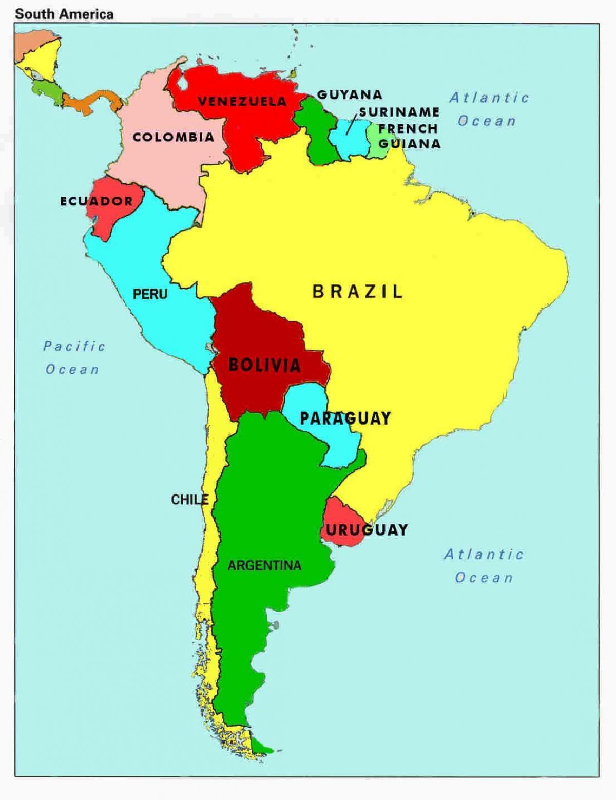 Venezuela țara Hartă Harta De Venezuela și țările Din Jur